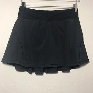 Lululemon Black Circuit Breaker Athletic Skirt